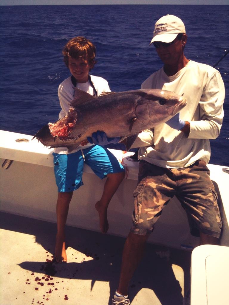 Cullen with a Shark bitten AJ