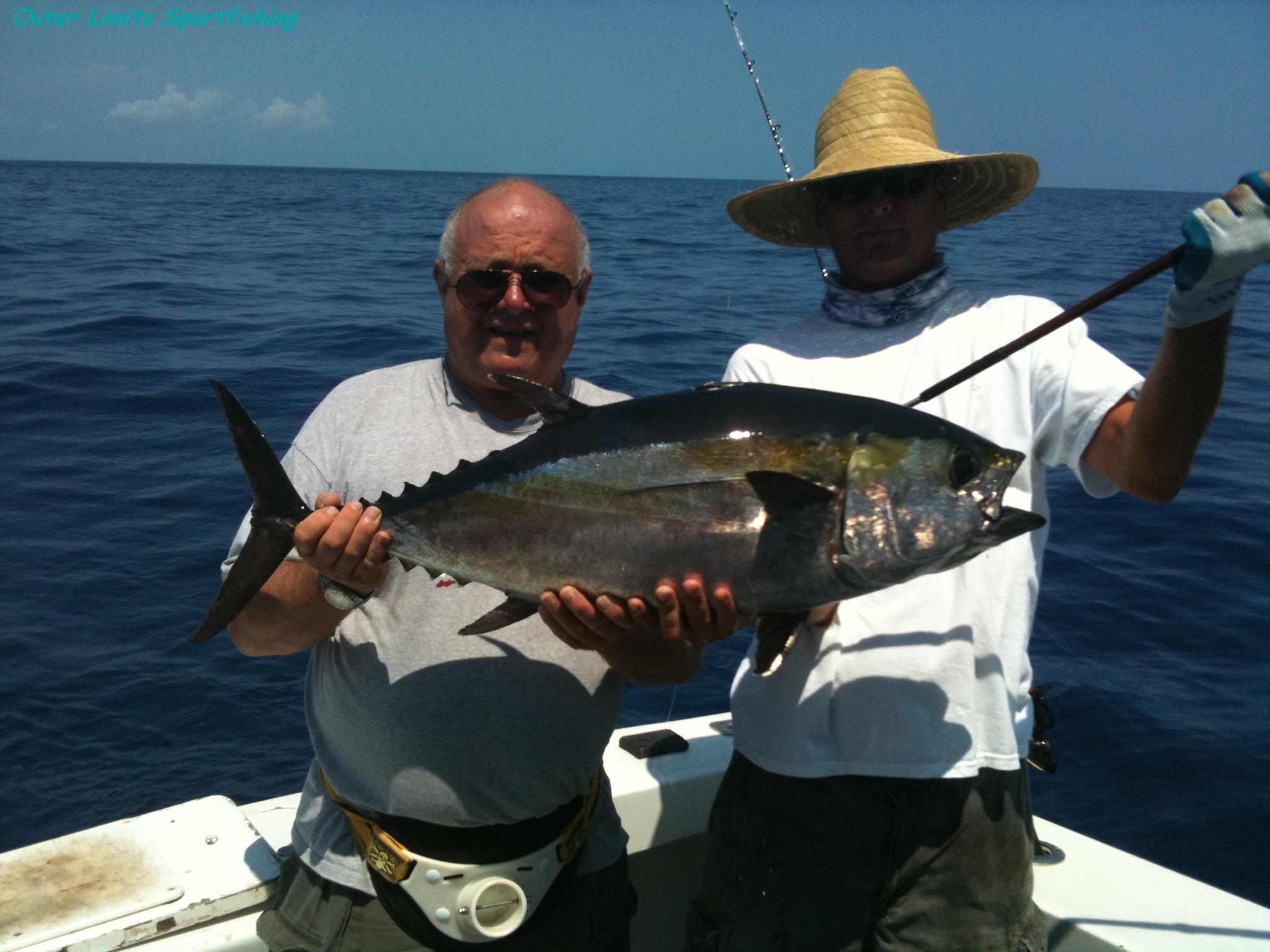 Walter Pytell with a big Blackfin Tuna