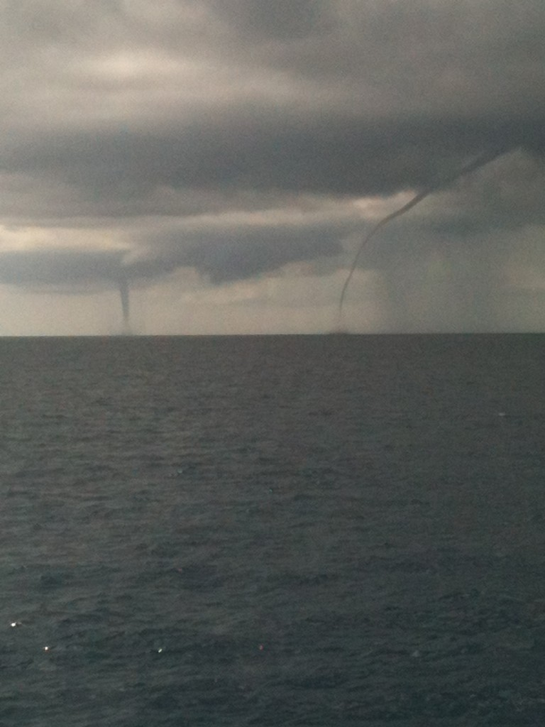 Double trouble waterspouts
