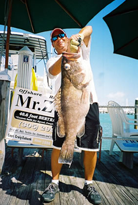 Snowy caught on Deep Drop Fishing trip out of Key West